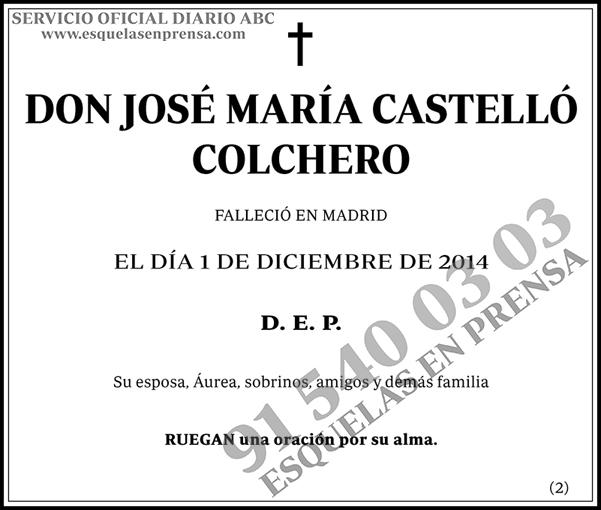 José María Castelló Colchero